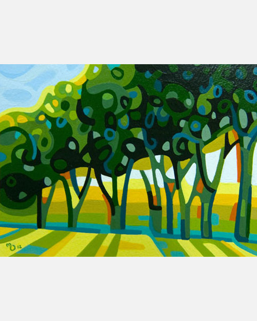 original abstract landscape study of summer tree shadows